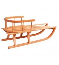 Wooden sled with backrest Alaska