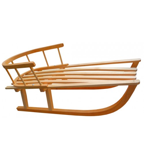 Wooden sled with backrest Alaska