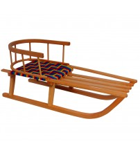 Wooden sledge with back Everest
