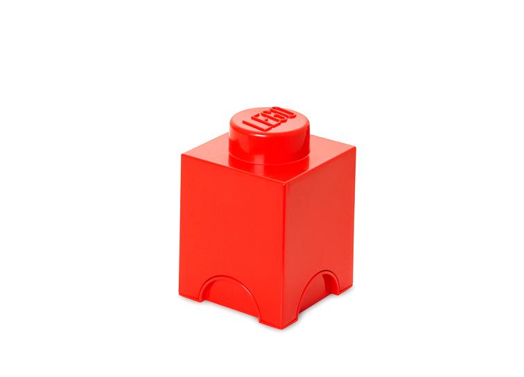 Cutie depozitare LEGO 1x1 rosu