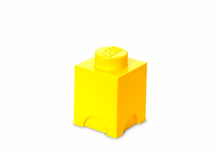 Cutie depozitare LEGO 1x1 galben