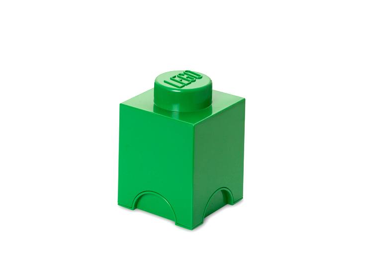 Cutie depozitare LEGO 1x1 verde inchis
