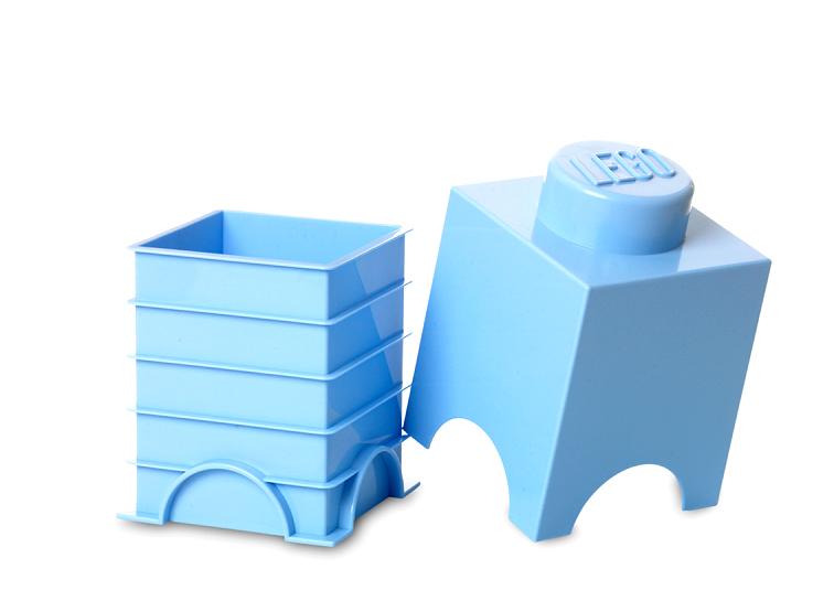 Cutie depozitare LEGO 1x1 albastru deschis