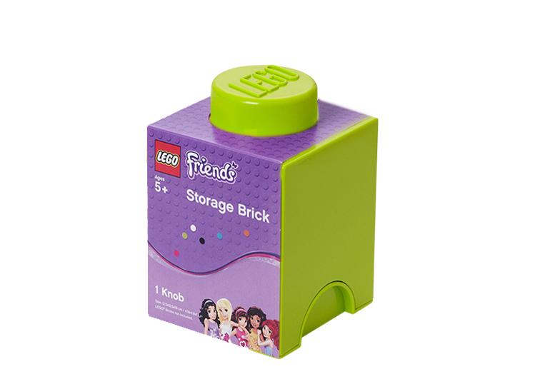 Cutie depozitare LEGO Friends 1x1 verde deschis