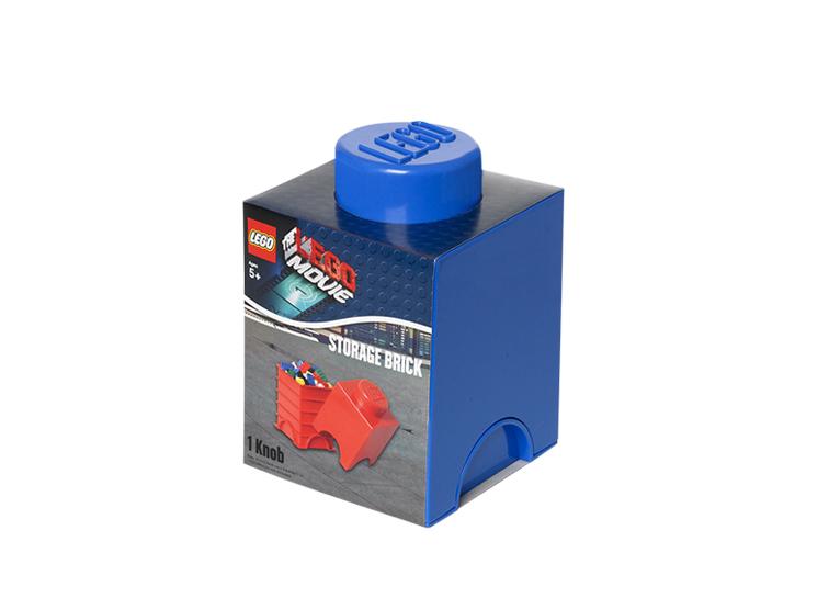 Cutie depozitare LEGO Movie 1x1 albastru inchis