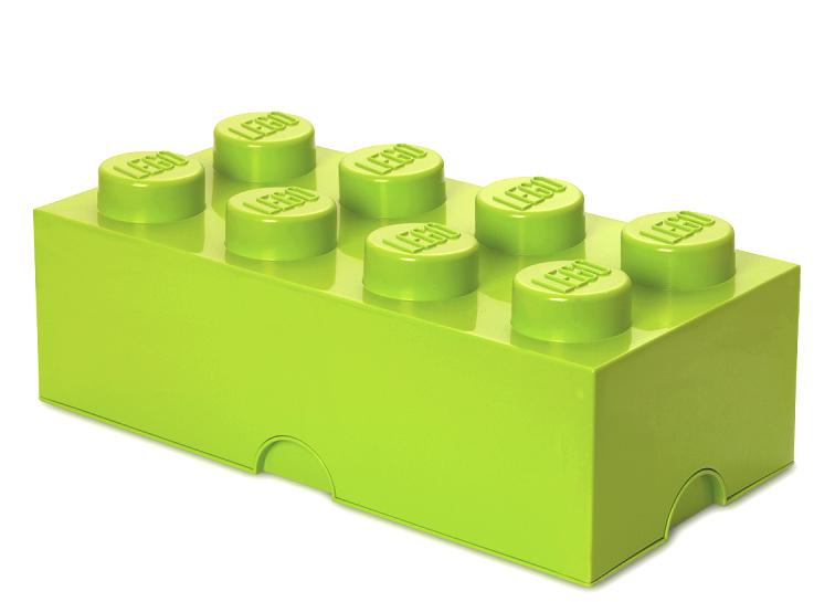 Cutie depozitare LEGO 2x4 verde deschis