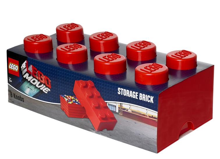 Cutie depozitare LEGO Movie 2x4 rosu